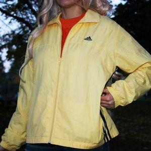 Yellow Adidas Rain Jacket